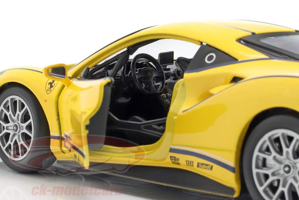 Ferrari 488 Challenge #25 gelb 1:24 Bburago