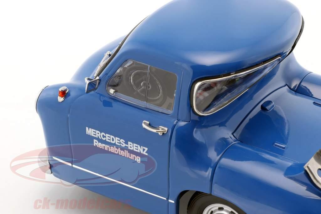 Set: Mercedes-Benz løb bil transportør blå mirakel med Mercedes-Benz W196 #12 1:18 iScale