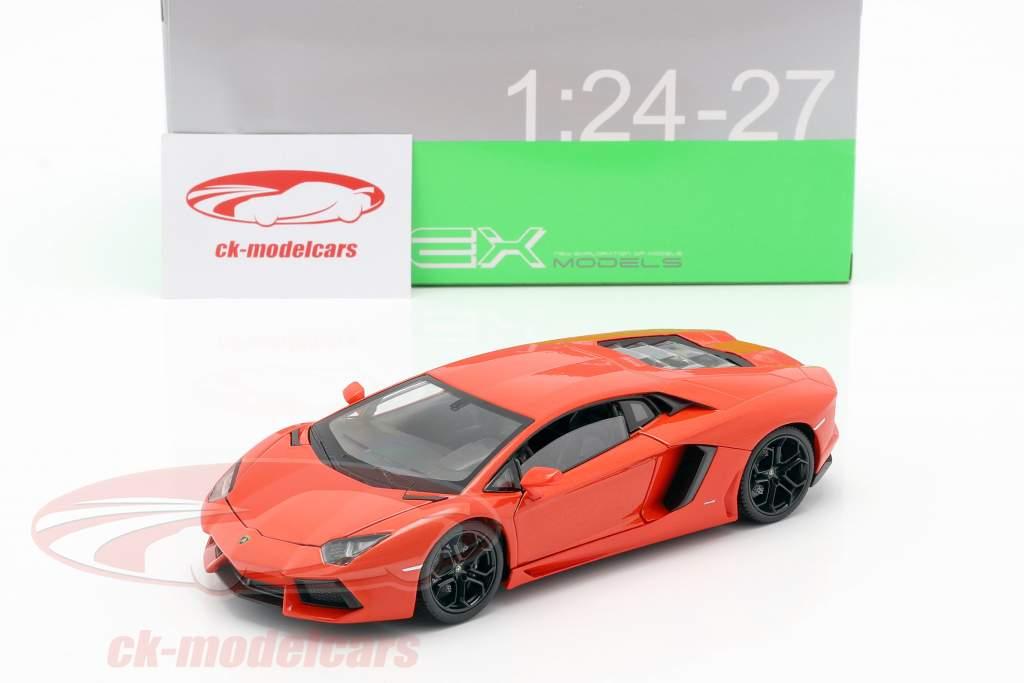 Lamborghini Aventador LP700-4 Année 2011 Orange 1:24 Welly