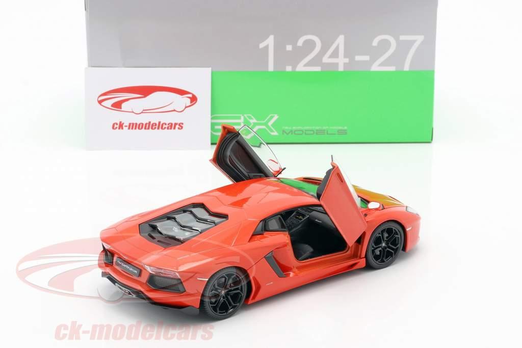 Lamborghini Aventador LP700-4 Baujahr 2011 orange 1:24 Welly
