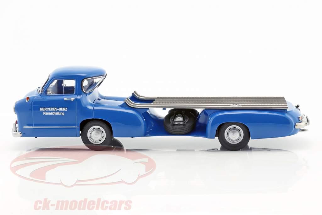 Mercedes-Benz Renntransporter Das blaue Wunder Baujahr 1955 blau 1:18 iScale