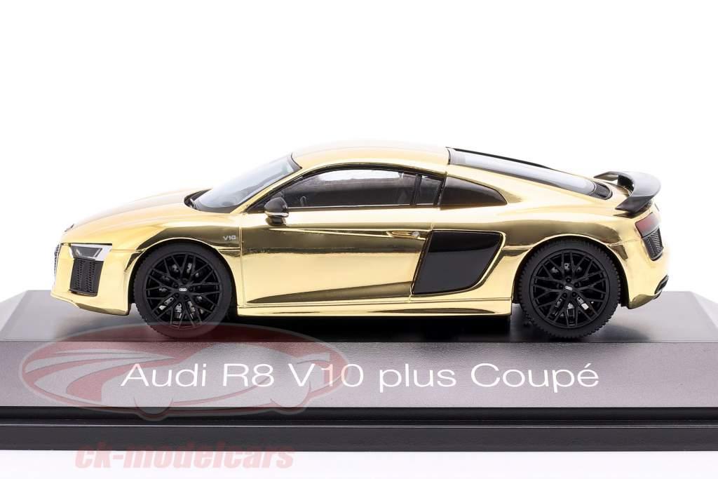 Audi R8 V10 plus Coupe oro lucente 1:43 Herpa