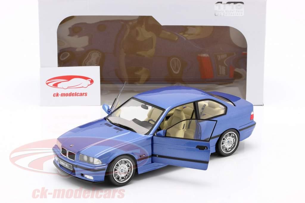 BMW M3 Coupe (E36) Ano de construção 1990 estoril azul 1:18 Solido