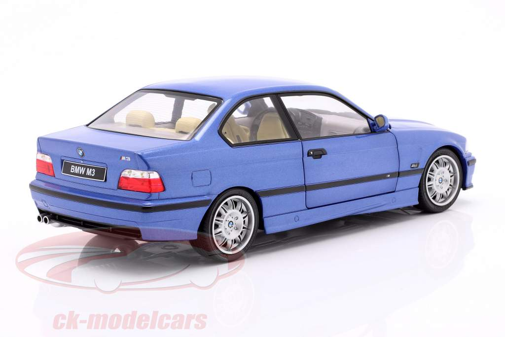 BMW M3 Coupe (E36) Baujahr 1990 estoril blau 1:18 Solido