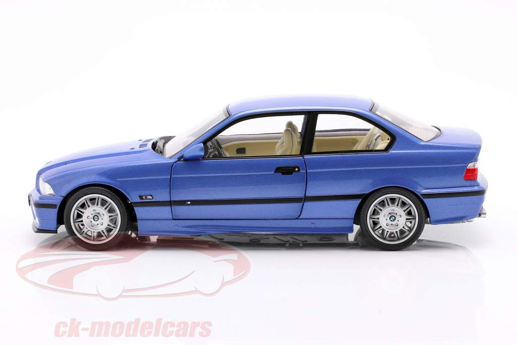 BMW M3 Coupe (E36) Año de construcción 1990 estoril azul 1:18 Solido