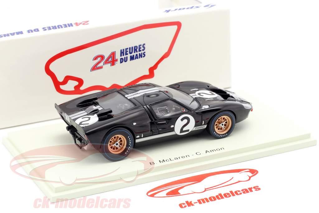 Ford GT40 MK2 #2 Ganador 24h LeMans 1966 McLaren, Amon 1:43 Spark