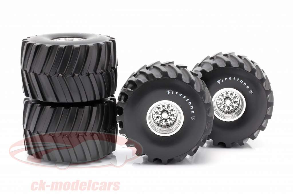 Monster Truck 66-inch Neumático & Llantas Set Firestone 1:18 Greenlight