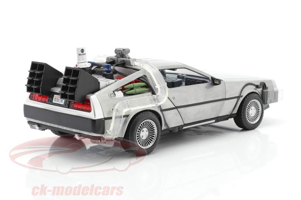 DeLorean Time Machine Flying Wheel Version Back to the Future II (1989) plata 1:24 Jada Toys