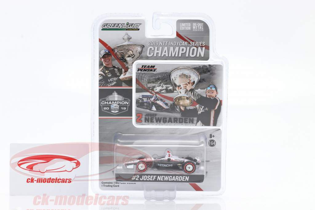 Josef Newgarden Chevrolet #2 campione Indycar Series 2019 1:64 Greenlight