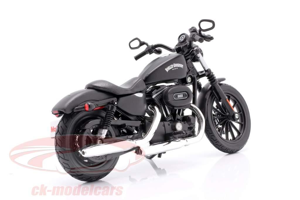 Harley Davidson Sportster Iron 883 Ano de construção 2014 preto 1:12 Maisto