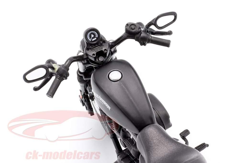 Harley Davidson Sportster Iron 883 Byggeår 2014 sort 1:12 Maisto