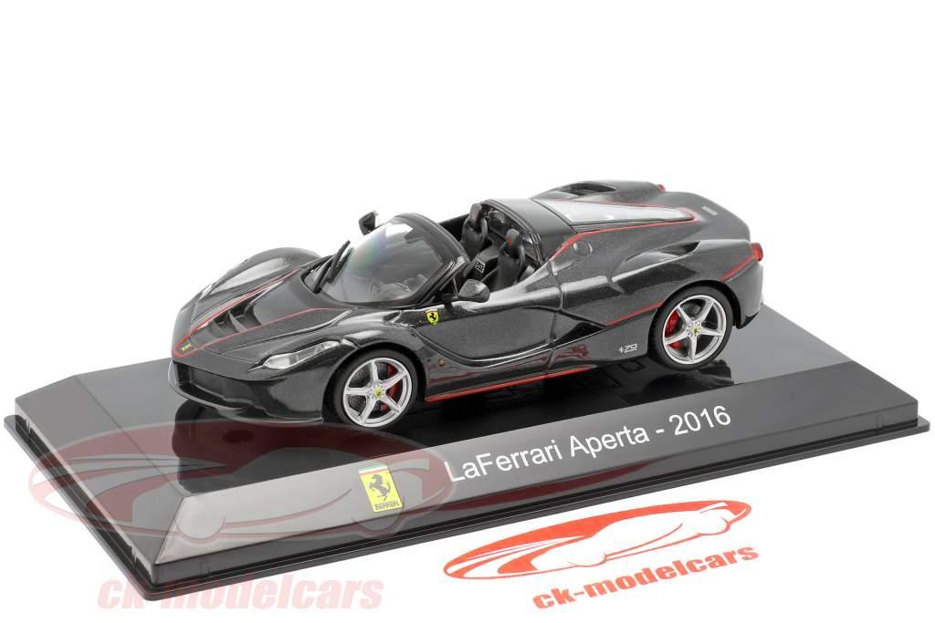 Ferrari LaFerrari Aperta year 2016 black 1:43 Altaya