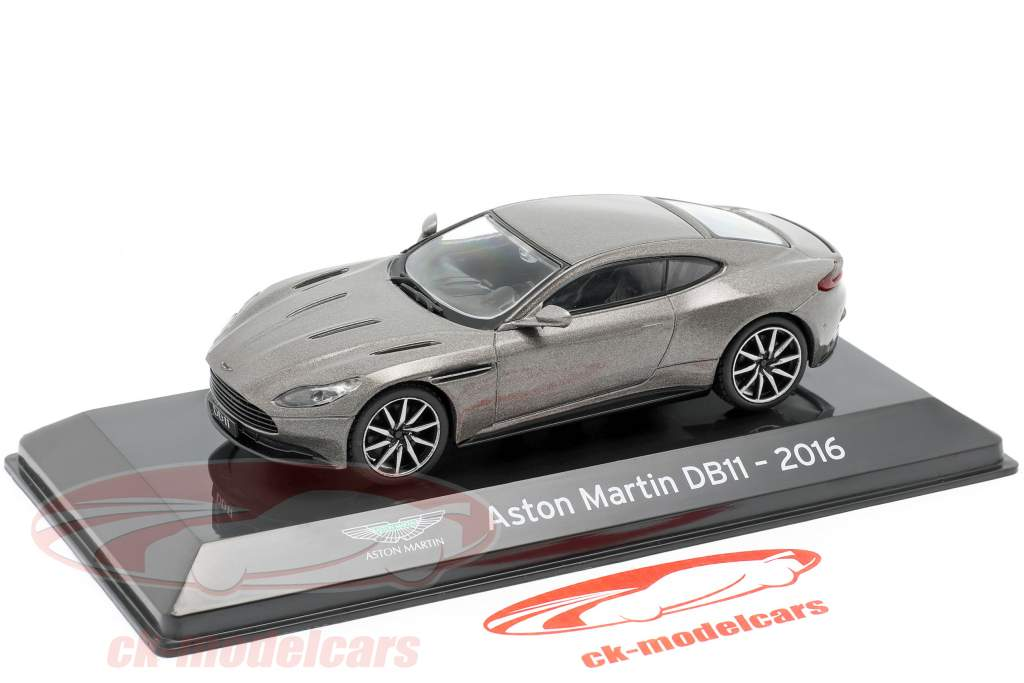 Aston Martin DB11 Bouwjaar 2016 grijs metallic 1:43 Altaya