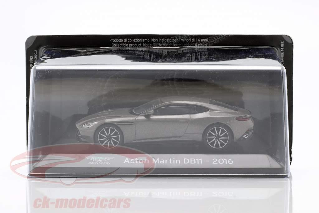 Aston Martin DB11 Ano de construção 2016 cinza metálico 1:43 Altaya