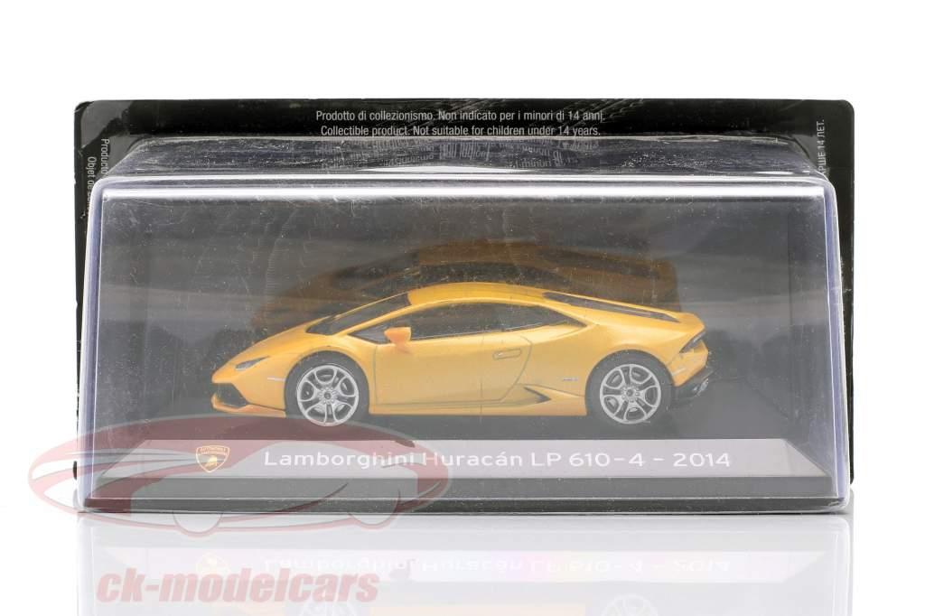 Lamborghini Huracan LP610-4 Anno di costruzione 2014 giallo metallico 1:43 Altaya