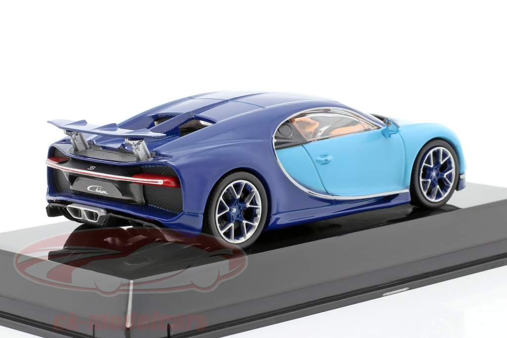 Bugatti Chiron year 2016 light blue / dark blue 1:43 Altaya