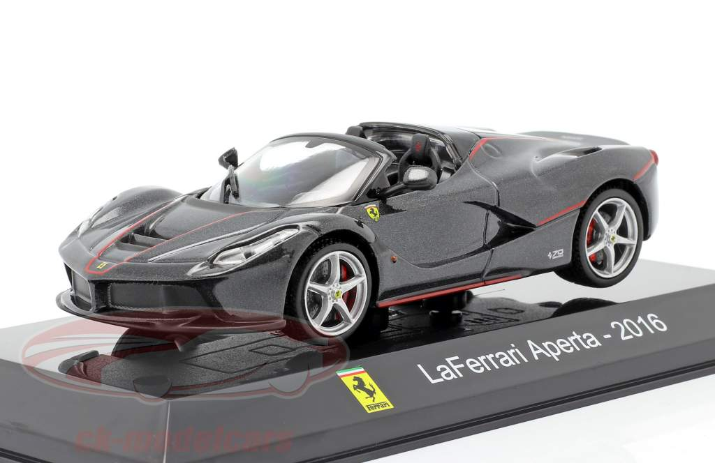Ferrari LaFerrari Aperta Bouwjaar 2016 zwart 1:43 Altaya