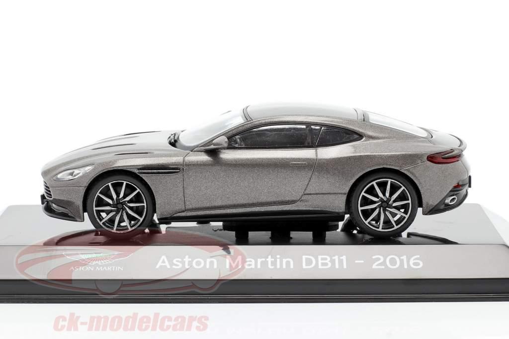 Aston Martin DB11 Anno di costruzione 2016 grigio metallico 1:43 Altaya
