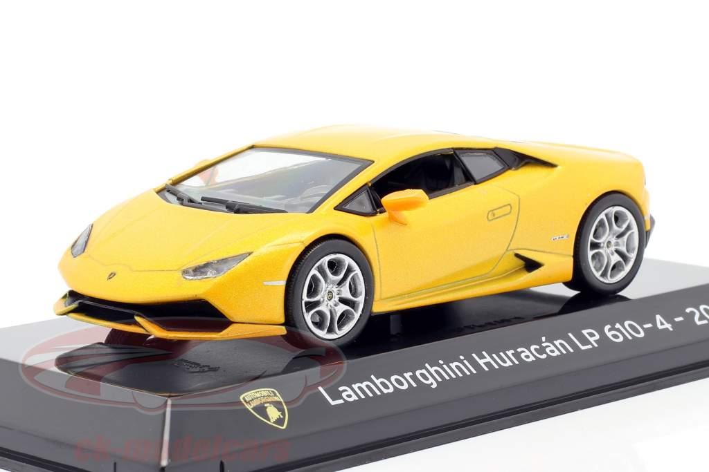 Lamborghini Huracan LP610-4 Ano de construção 2014 amarelo metálico 1:43 Altaya
