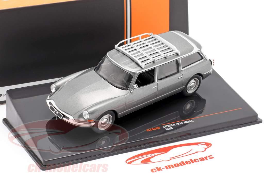 Citroen ID19 Break year 1960 grey metallic 1:43 Ixo