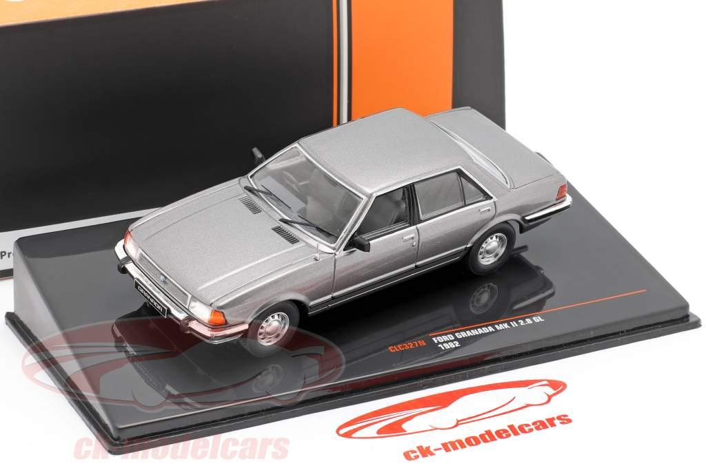 Ford Granada MK II 2.8 GL Año de construcción 1982 gris metálico 1:43 Ixo