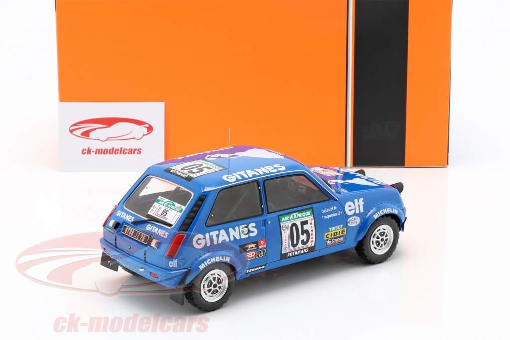 Renault 5 Alpine #5 5to Rallye Costa de marfil 1978 Frequelin, Delaval 1:18 Ixo