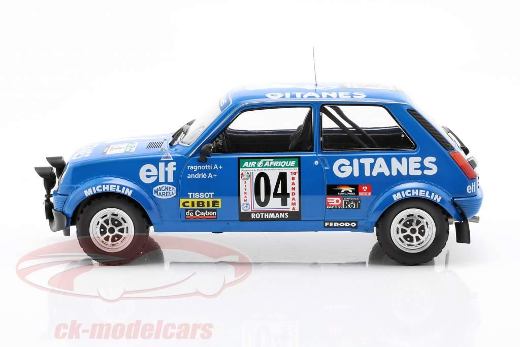 Renault 5 Alpine #4 3º Rallye Costa do Marfim 1978 Ragnotti / Andrie 1:18 Ixo