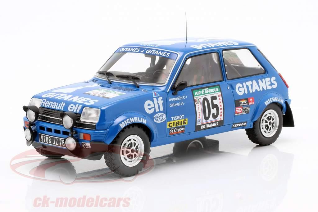 Renault 5 Alpine #5 5e Rallye Côte d'Ivoire 1978 Frequelin, Delaval 1:18 Ixo