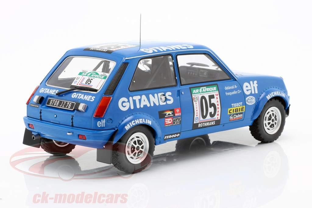 Renault 5 Alpine #5 5 ° Rallye Costa d'Avorio 1978 Frequelin, Delaval 1:18 Ixo