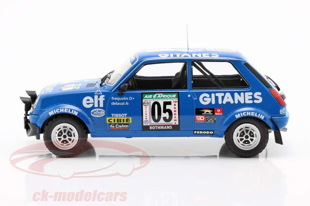 Renault 5 Alpine #5 5th Rallye Elfenbeinküste 1978 Frequelin, Delaval 1:18 Ixo