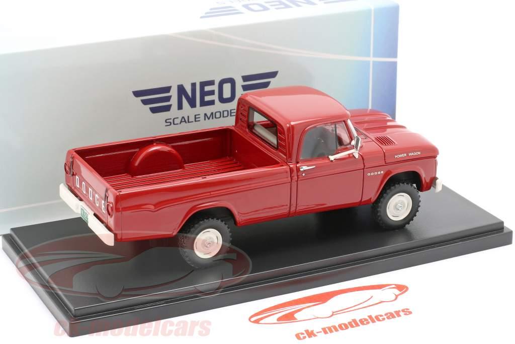 Dodge W200 Power Wagon Año de construcción 1964 rojo 1:43 Neo