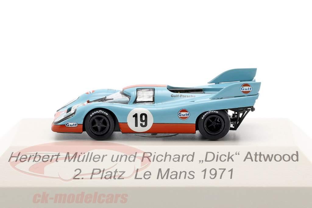 Porsche 917K Gulf #19 2 ° 24h LeMans 1971 Attwood, Müller 1:87 Brekina
