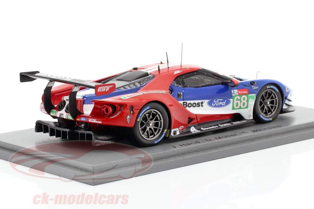 Ford GT #68 24h LeMans 2019 Bourdais, Hand, Müller 1:43 scintilla