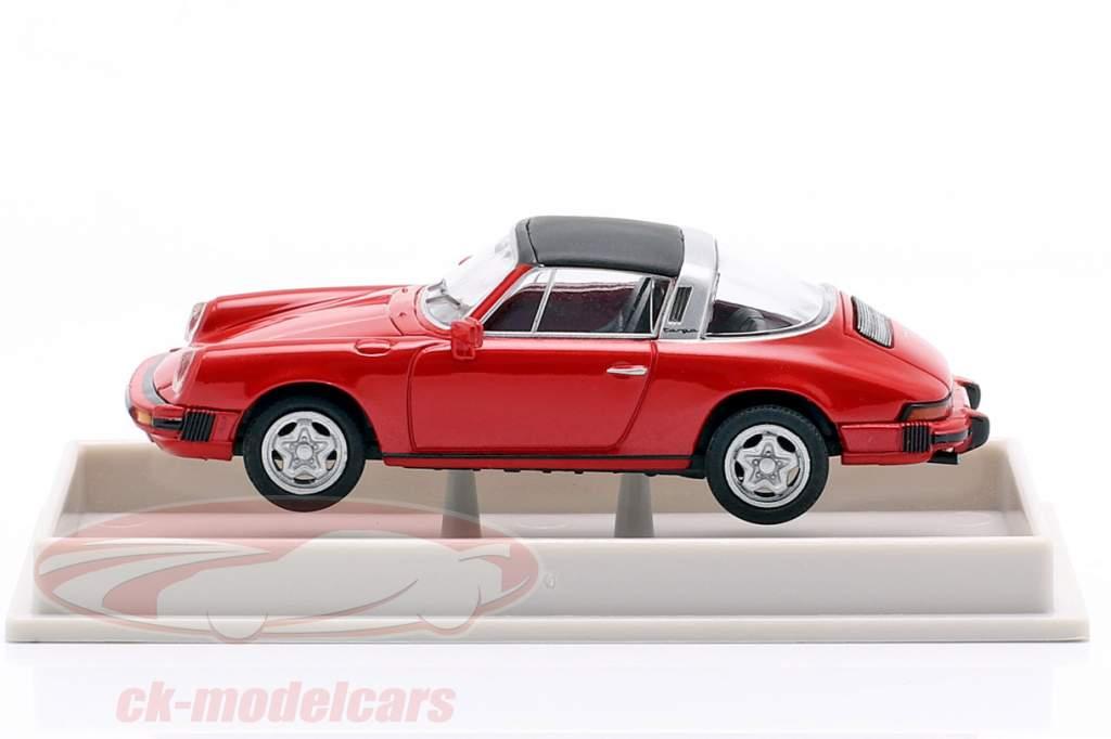 Porsche 911 Targa F 1976 metálico rosa 1:87 Brekina
