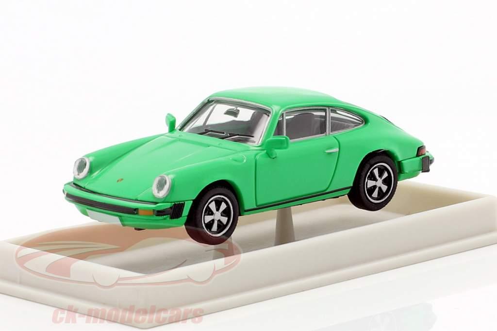 Porsche 911 coupe G series 1974 green 1:87 Brekina