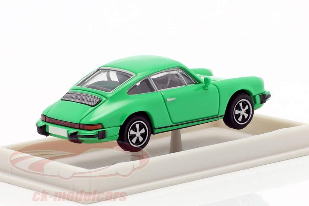 Porsche 911 coupe G-serie 1974 grøn 1:87 Brekina