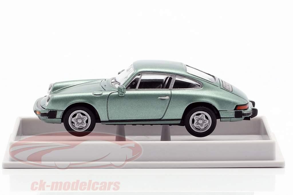 Porsche 911 Cupé 1976 verde claro metalizado 1:87 Brekina
