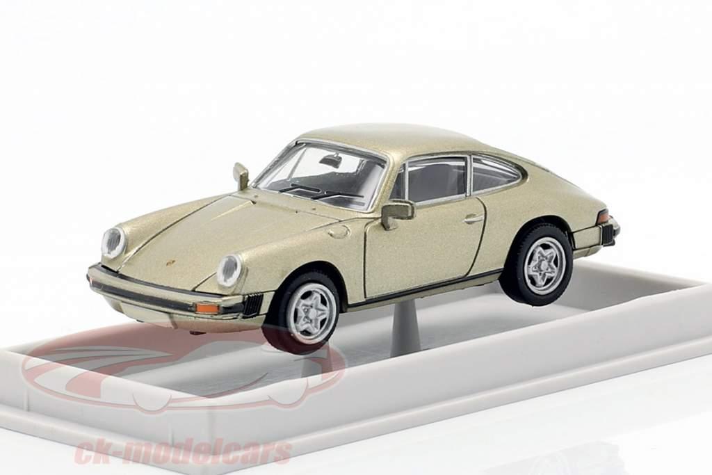 Porsche 911 Cupé 1976 beige metalizado 1:87 Brekina
