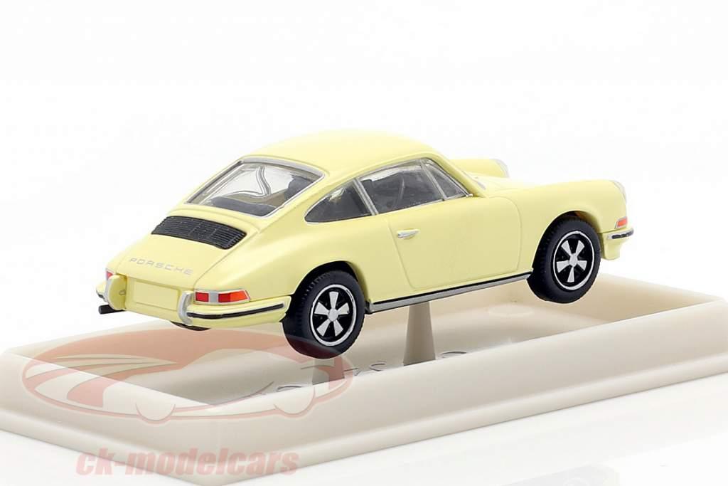 Porsche 911 lysegul 1:87 Brekina