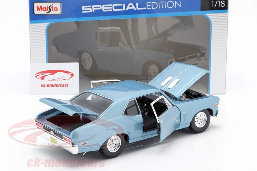 Chevrolet Nova SS Coupe Année de construction 1970 lumière bleu métallique 1:18 Maisto