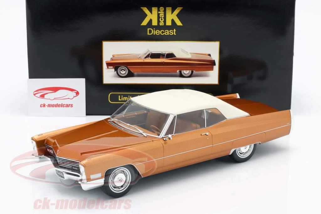 Cadillac DeVille con Softtop Anno di costruzione 1967 oro-marrone metallico 1:18 KK-Scale
