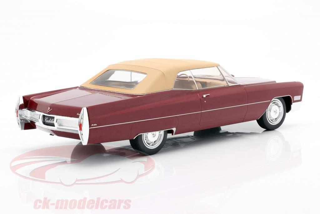 Cadillac DeVille com Softtop Ano de construção 1967 bordeaux-red metálico 1:18 KK-Scale