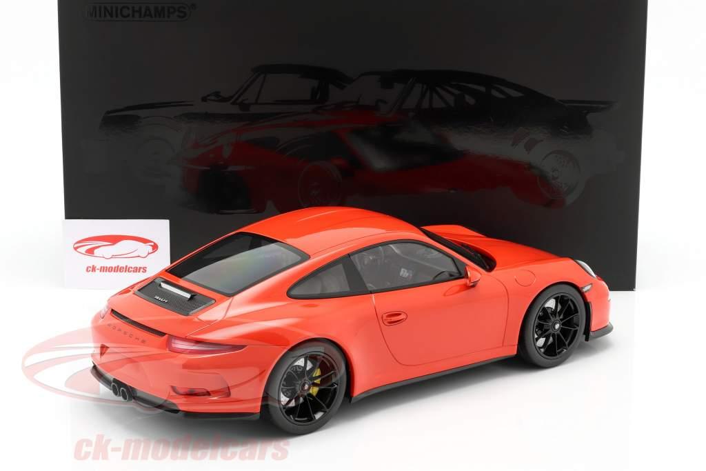 Porsche 911 (991) R Année de construction 2016 lava orange 1:12 Minichamps