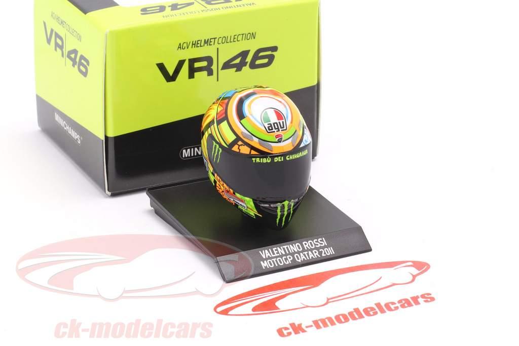 Valentino Rossi MotoGP Qatar 2011 AGV hjelm 1:10 Minichamps