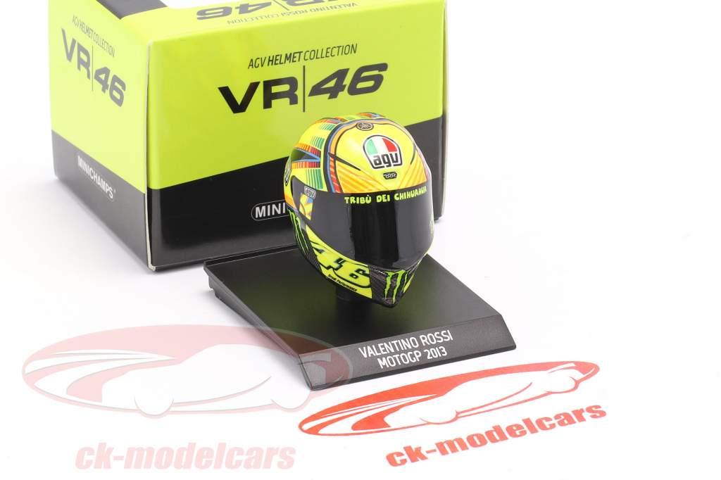 Valentino Rossi MotoGP 2013 AGV Helm 1:10 Minichamps