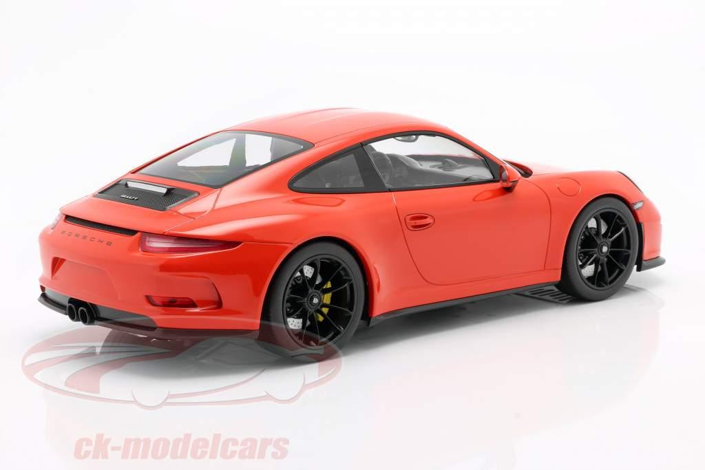Porsche 911 (991) R year 2016 lava orange 1:12 Minichamps