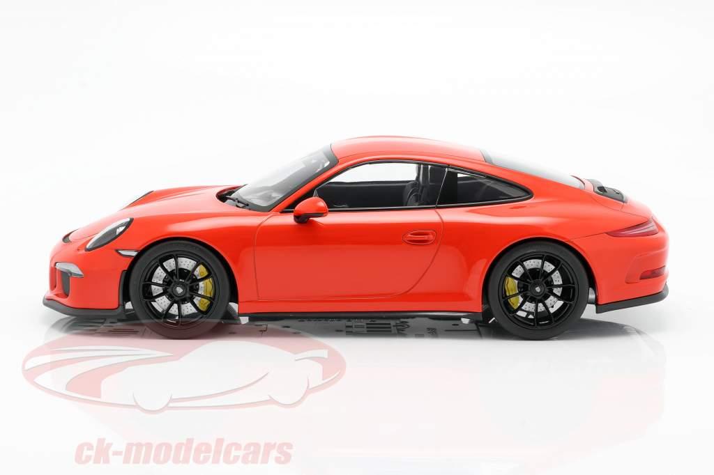 Porsche 911 (991) R Anno di costruzione 2016 lava arancione 1:12 Minichamps