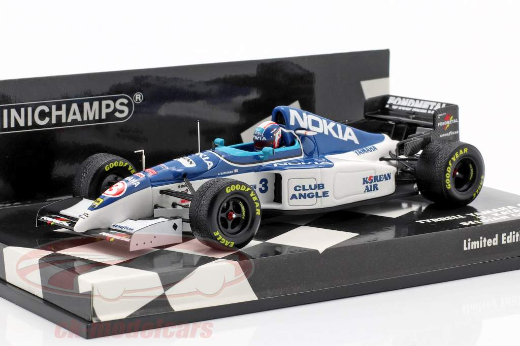 Ukyo Katayama Tyrrell 023 #3 belga GP formula 1 1995 1:43 Minichamps