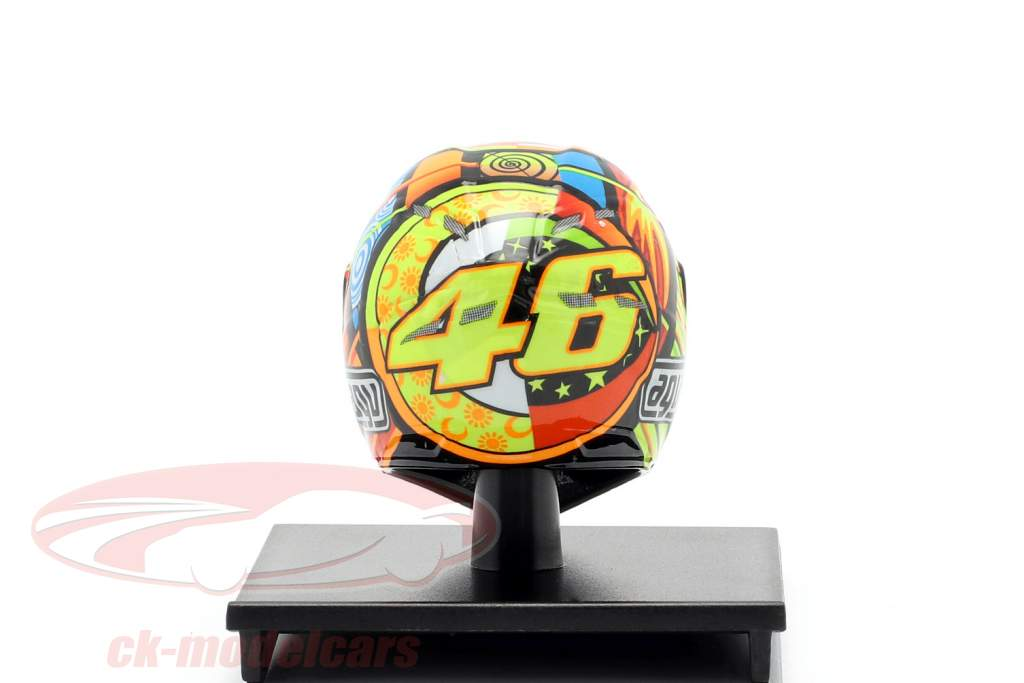 Valentino Rossi MotoGP Catar 2011 AGV Capacete 1:10 Minichamps