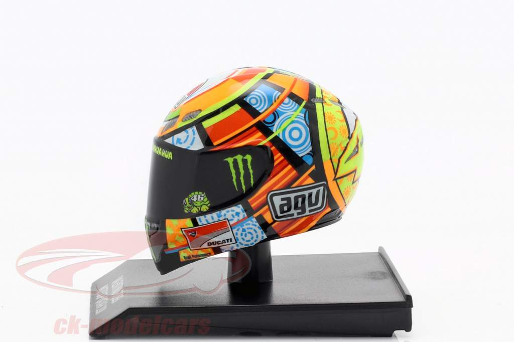Valentino Rossi MotoGP Katar 2011 AGV Helm 1:10 Minichamps